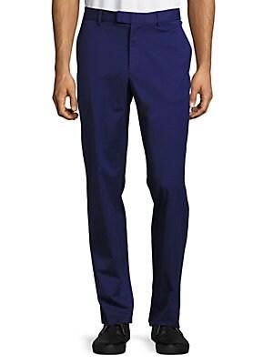 michael kors male 236621 tailoredfit cotton trousers