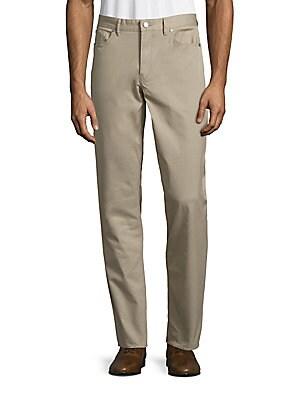 michael kors male 123917 tailored cotton twill pants