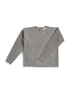 Girl's Solid Knit Sweater