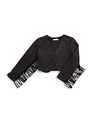 Kid's V-Neck Long Sleeve Jacket