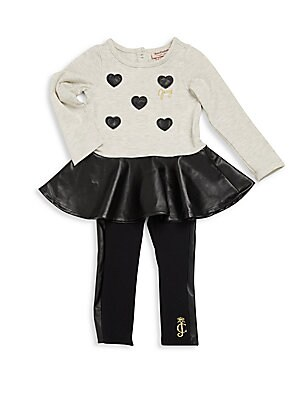 Baby's Two Piece Two-Toned Top & Leggings Set