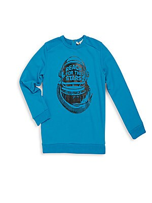 Toddlers and Little Boys Space Long Sleeve Pullover