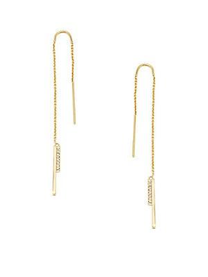Crystal Studded Threader Earrings