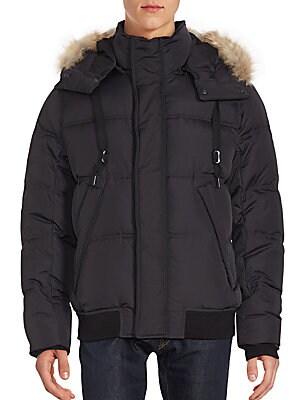 Fur Hooded Long Sleeve Jacket