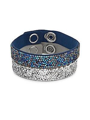 Crystal Rock Leather Bracelet