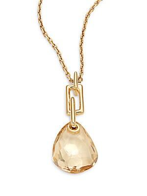 Crystal Mini Teardrop Pendant Necklace