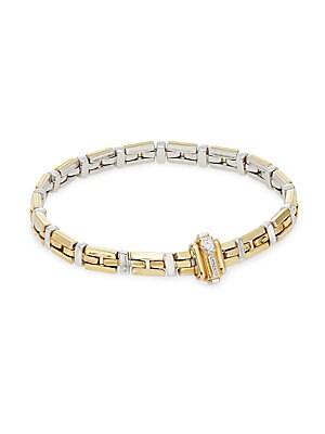 Diamond in 18K White and Yellow Gold Bracelet