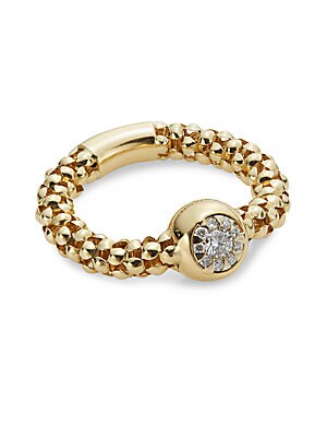 Diamonds & 18K Yellow Gold Stretch Bouquet Ring