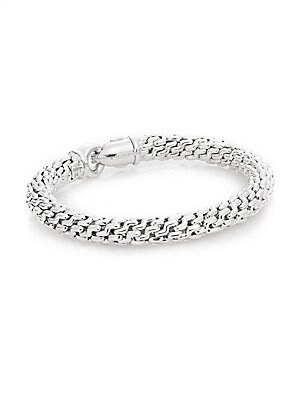Click here for 18K White Gold Braided Bracelet prices