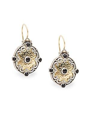 Aspasia Onyx, 18K Gold & Sterling Silver Drop Earrings