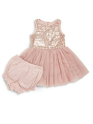 Baby's Sequin Dress & Bloomers Set