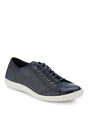 Hattan Canvas & Leather Sneakers
