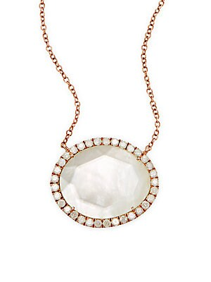 Click here for White Topaz  Mother-Of-Pearl Doublet  14K White &... prices