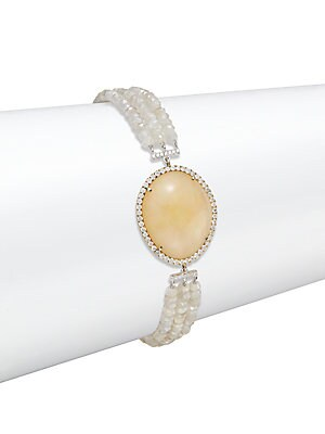 Diamond & Ethiopian Opal 14K Yellow Gold Bracelet
