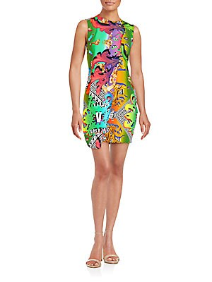 Graphic Printed Wrap Dress