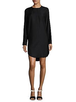 Hi-Lo Satin Shift Dress