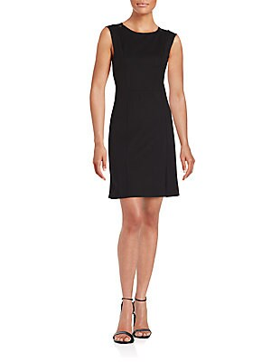 Sleeveless Cotton & Silk Dress