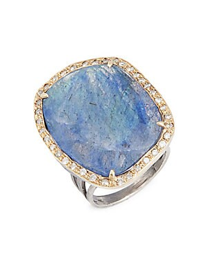 Click here for Diamond & Labadroite Ring prices