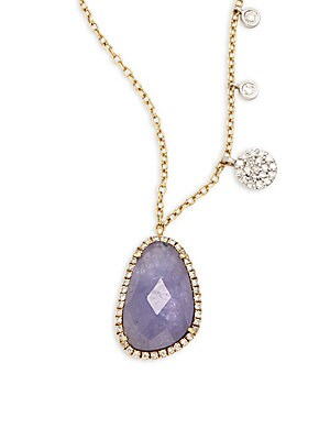Click here for Diamond & Amethyst Pendant Necklace prices