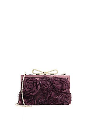 Extra Small Floral Applique Clutch