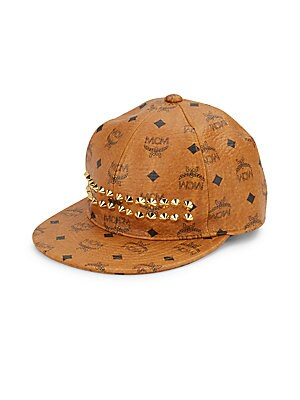 Goldtone Studded Cap