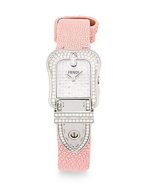 Diamond Studded & Stingray Strap Watch