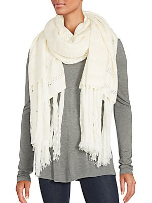 Solid Wool Blend Stole