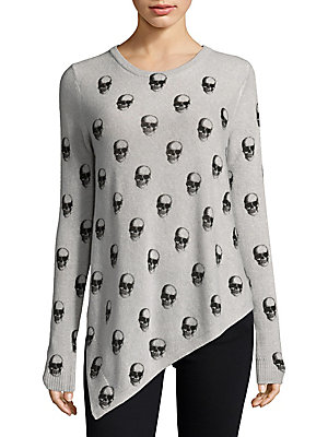 Skull Printed Cashmere Sweater