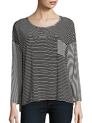 Striped Dropped Shoulder Tee
