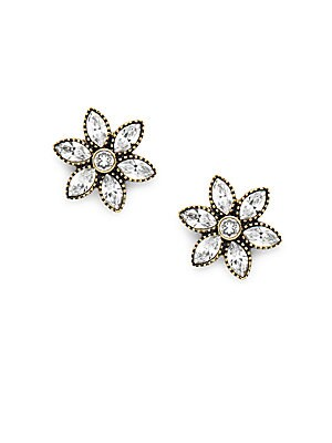 Swarovski Crystal & Rhinestone Floral Studs