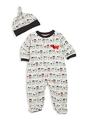 Baby's Two-Piece Footie & Hat Set