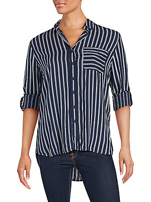 Striped One-Pocket Shirt