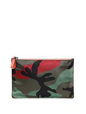 Long Trapazoid Printed Pouch
