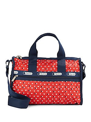 Star & Heart Print Handbag