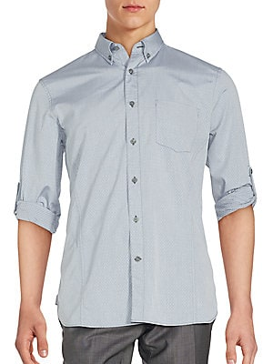 Cotton Roll-Up Sleeve Shirt