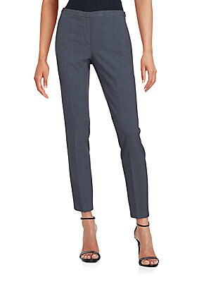 Ankle-Length Slim-Fit Trousers