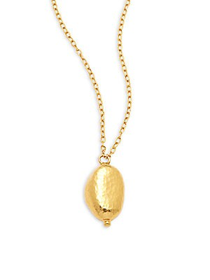 24K Yellow Gold Pendant Necklace