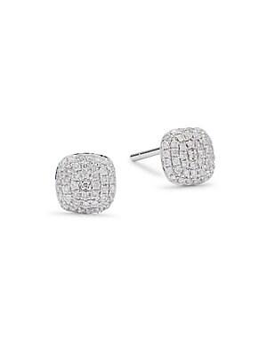 Diamond & 14K White Gold Stud Earrings