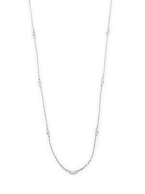 Click here for Diamonds & 14K White Gold Chain Necklace prices