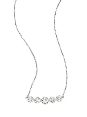 Click here for Diamond & 14K White Gold Necklace prices