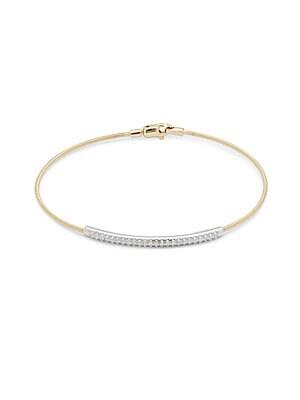Diamond, 14K White & Yellow Gold Bracelet