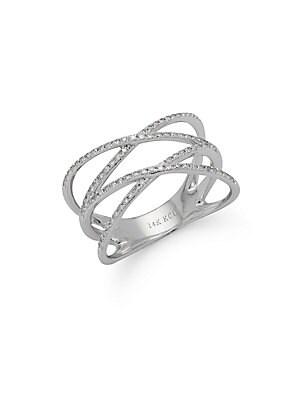 Click here for Diamond & 14K White Gold Orbital Ring prices