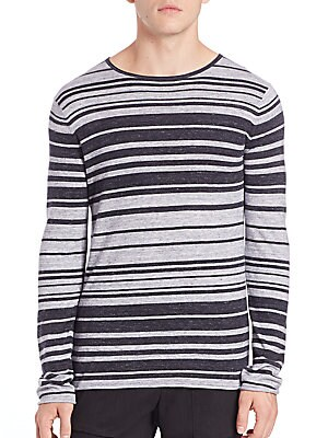 Sporty Jasper Stripe Crewneck Sweater