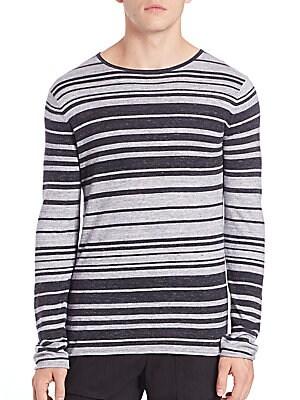 Sporty Jasper Stripe Crewneck Sweater
