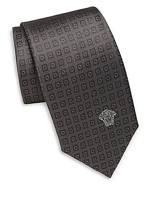 Dotted Geometric Pattern Tie