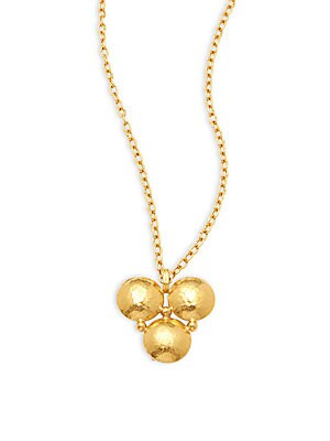 Click here for 24K Yellow Gold Triple Pendant Necklace prices