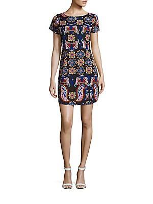 Psychadelic Print Shift Dress