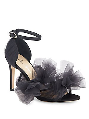 Gigi Mesh Ruffled Pumps
