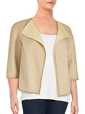 Wool & Cashmere Open-Front Jacket