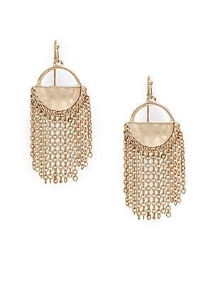Chain Linked Tassel Drop Earrings